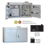 Buy MC5 Outer Medicine Cabinet 66cm(H) x 100cm(W) x 30cm(D) CDC22 Inner Cabinet 30cm(H) x 34cm(W) x 27cm(D) (SUN-MCDC522) sold by eSuppliesMedical.co.uk