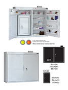 Buy MC9 Outer Medicine Cabinet 91cm(H) x 100cm(W) x 30cm(D) CDC23 Inner Cabinet 55cm(H) x 34cm(W) x 27cm(D) (SUN-MCDC923) sold by eSuppliesMedical.co.uk