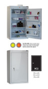 Buy Medicine Cabinet - 4 Shelves & 4 Door Trays, 1 Door - 85cm(H) x 50cm(W) x 30cm(D) - No Light (SUN-MC6/NL) sold by eSuppliesMedical.co.uk