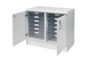 Buy 103cm wide double base unit with 8 single / 2 double depth clear trays (SUN-VBU4W) sold by eSuppliesMedical.co.uk