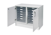 Buy 103cm wide double base unit with top, 8 single / 2 double depth clear trays (SUN-VBUT4W) sold by eSuppliesMedical.co.uk