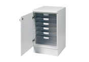 Buy 51.5cm wide base unit with 4 single / 1 double depth clear trays (SUN-VBU1W) sold by eSuppliesMedical.co.uk