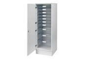 Buy 51.5cm wide larder unit with top, 7 single / 3 double depth clear trays (SUN-VLUT1W) sold by eSuppliesMedical.co.uk