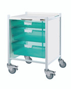 VISTA 40 Trolley  1 Single / 2 Double Depth Clear Trays