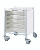 Buy VISTA 40 Trolley - 5 Single Depth Clear Trays (Sun-MPT40C) sold by eSuppliesMedical.co.uk