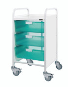 VISTA 50 Trolley - 3 Double Depth Clear Trays