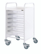 Buy VISTA 50 Trolley - 6 Single Depth Clear Trays (Sun-MPT1C) sold by eSuppliesMedical.co.uk
