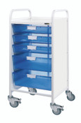 Vista 55 Trolley - 3 Single / 2 Double Depth Clear Trays