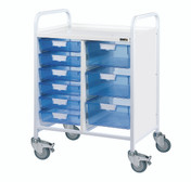 VISTA 60 Trolley - 6 Single / 3 Double Depth Clear Trays