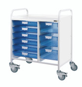 VISTA 80 Trolley - 6 Single / 3 Double Depth Clear Trays