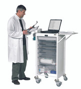 Buy Vista 90 Action Station Trolley  9 single depth clear trays, standard Castor Buffers (SUN-MPT90C) sold by eSuppliesMedical.co.uk
