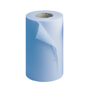 Buy Wiper Rolls, 2 Ply, 10inch, 50m, Blue, 18 rolls (PCR24B) sold by eSuppliesMedical.co.uk