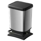 Buy 40 Litre Plastic Chrome Look Pedal Bin (W85080) sold by eSuppliesMedical.co.uk