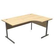 OT Cantilever Radial Desk (1400W) - Right Hand