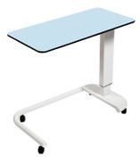 Buy Astro Over Bed Table, C-Shaped Base, Flat Compact Grade Laminate Top, BLUE Colour (SUN-OBT2C/CM/BLUE) sold by eSuppliesMedical.co.uk