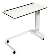 Buy Astro Over Bed Table, C-Shaped Base, Compact Grade Laminate Top with 1 Lip, White Colour (SUN-OBT3C/CM/1L/WHITE) sold by eSuppliesMedical.co.uk