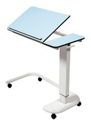 Buy Astro Over Bed Table, C-Shaped Base, Tilting Compact Grade Laminate Top with 1 Lip, Blue Colour (SUN-OBT4C/CM/1LT/BLUE) sold by eSuppliesMedical.co.uk