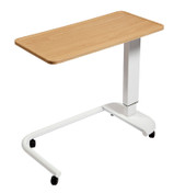 Astro Over Bed Table, C-Shaped Base, Recessed High Impact PVC Top, Beech Colour