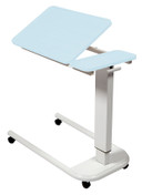 Buy Astro Over Bed Table, Parallel Base, Recessed Tilting High Impact PVC Top, BLUE Colour (SUN-OBT6P/VW/T/BLUE) sold by eSuppliesMedical.co.uk