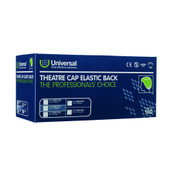 Buy Universal Theatre Caps, Elasticated Back, Blue, Pack of 100 (UN91230) sold by eSuppliesMedical.co.uk