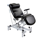 Sunflower Fusion Phlebotomy Chair with Electric Height Adjustment, Gas Assisted Head and Foot Sections  NOTE: The image depicts a chair with electric head adjustment and it is only for representation. The gas assisted head adjustment is very similar.