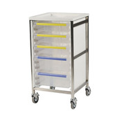 Buy Caretray Trolley - Single Column, 4 X 100mm, 1 X 160mm Trays (ECT110NH4S1L) sold by eSuppliesMedical.co.uk