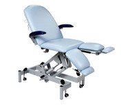 Sunflower Fusion Podiatry Chair with Hydraulic Height Adjustment, Gas Assisted Head and Split Adjustable Length Foot Section