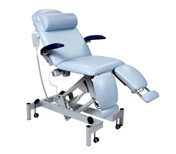Sunflower Fusion Podiatry Chair Electric Height Adjustment, Electric Head Adjustment and Gas Assisted Split Foot Section