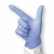 Blue Nitrile Skin2 Examination Gloves, Small, Box of 100