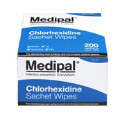 Medipal Chlorhexidine Wipes in a Sachet, Pack of 200