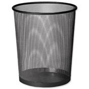 Osco Mesh Waste Bin Lightweight Sturdy Scratch-Resistant (Black)