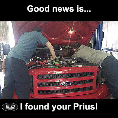 Engineered Diesel meme found your prius