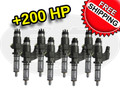 100% Over Injectors - 6.6L LB7 Duramax 2001 - 2004 - Set of 8 - with Sac Nozzles