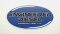 "Sticker - Oval Heavy Duty Vinyl - ""Engineered Diesel"" - Universal 6in x 3in"