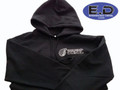 Engineered Diesel Hoodie - Black - Turbo Front / Logo Back