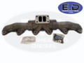 Exhaust Manifold - Stock Replacement 3 Piece Design - Cummins 24v 5.9L 1998.5 - 2002