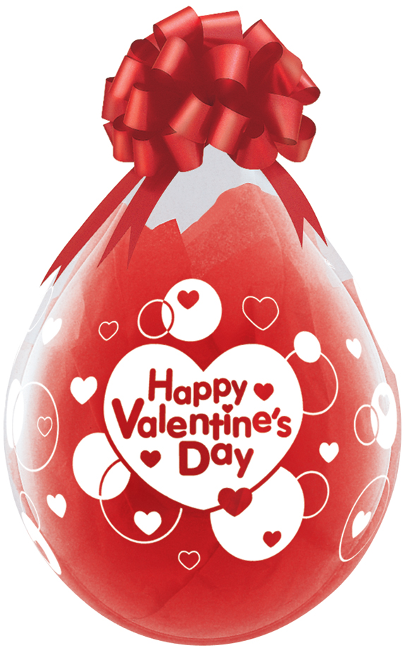 qualatex 18 inch clear stuffing balloon, happy valentines day, Ideas