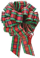 Christmas Plad Pull Bows for stuffing balloon GIAB