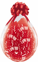 "Qualatex 18"" Stuffing Balloon, I LOVE YOU  print"