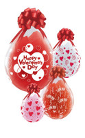 Stuffing balloon Keepsake Stuffer Balloon stuffer Stuffing machine a classy way to wrap your gift in a balloon, a stuffing balloon        ...................           18 inch Qualatex stuffing balloon clear with Valentines Print