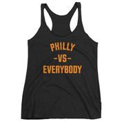Philly Vs Everybody Racerback Tank (Orange & Black)