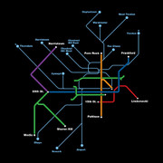 Transit Map (Black)