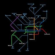 Transit Map (Black)