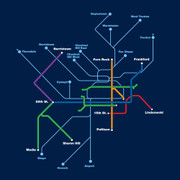 Transit Map (Navy)