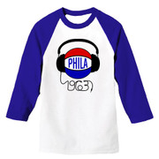 Phila Beats Unisex Raglan (Wht/Royal)