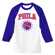 Phila Hoops Unisex Raglan (Wht/Royal)