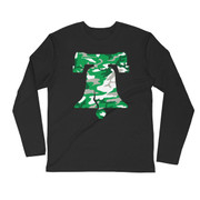 Camo Bell Football Long Sleeve Fitted Crew