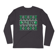Holiday Football Long Sleeve Fitted Crew