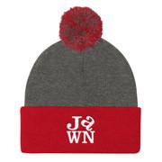 Jawn Love Pom Pom Knit Cap