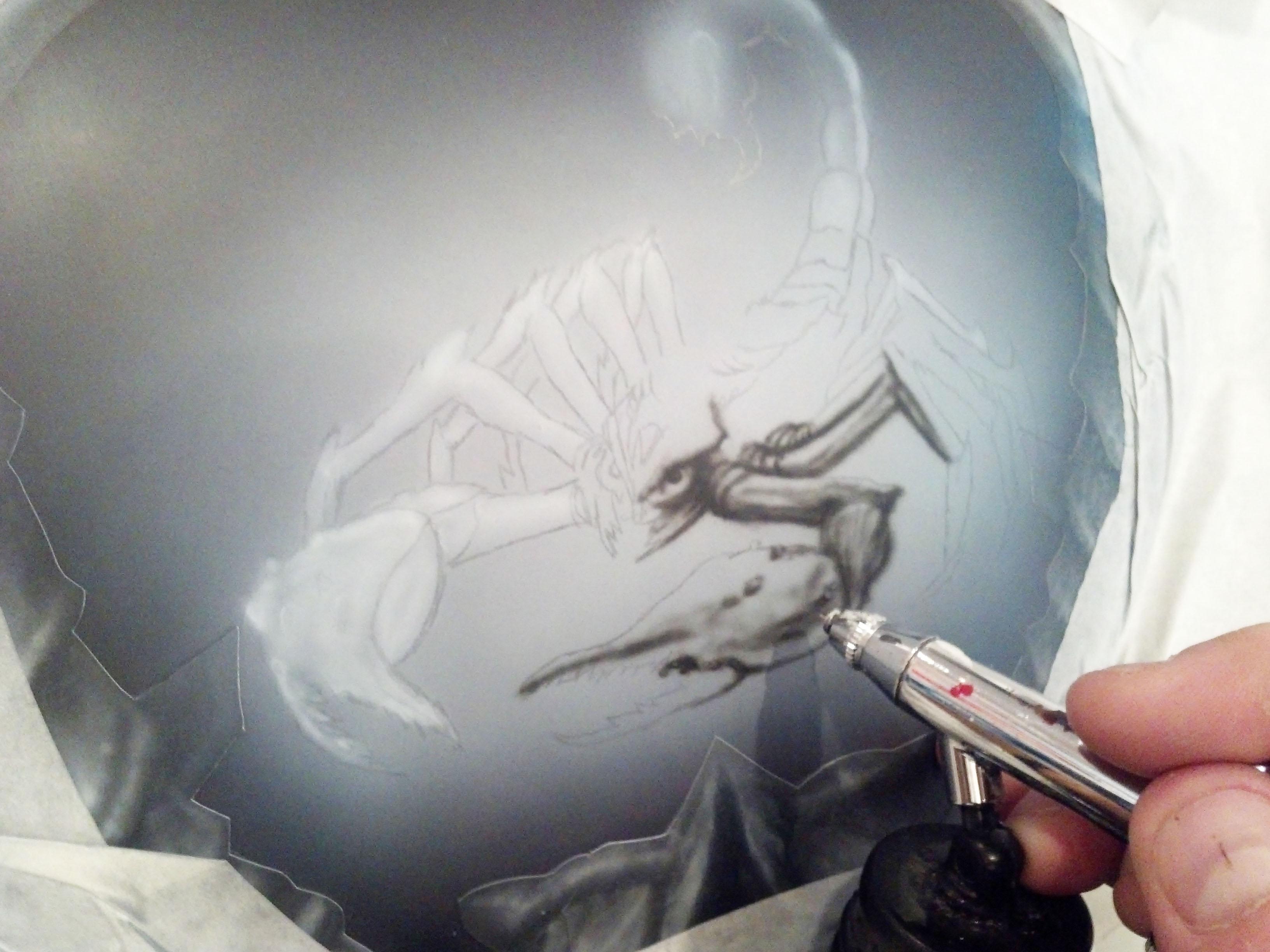 Scorpion Hayabusa Tank Airbrush Tutorial by Richard Markham